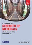 A Textbook of Strength of Materials (Mechanics of Solids) SI Units, 7/e  by  Er. R K Rajput